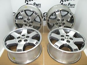 17 Inch Wheel Set Fits 2009 2010 2011 Honda Pilot Alloy Rims 63993 Oem