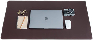 Zbrands Brown Leather Desk Mat Pad Blotter Protector Extended Non slip Recta