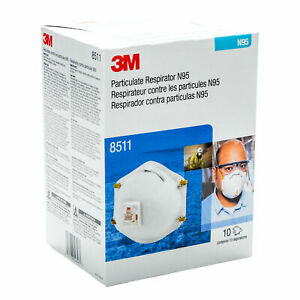 3m8511 N Grade 95 With Cool Flow Valve Brand New Box Of 10 Pieces Exp 07 2025
