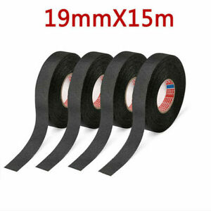19mm 15m Cloth Tape Wire Electrical Wiring Harness Car Auto Suv Truck 4 Rolls