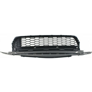 For Honda Accord Front Bumper Grille 2013 2015 Lower Sedan Textured Gray Plastic