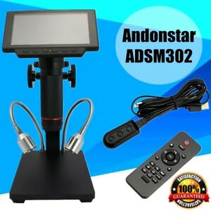 Andonstar 1080p Hdmi Digital Microscope Long Work Distance For Pcb Repair New