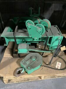 Chester 3 Ton Wire Rope Electric Hoist 20 Fpm Plain Trolley 12 Lift Wd660 rb