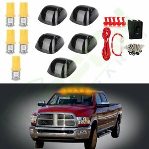 5 Smoke 264141bk Cab Roof Marker Lights Yellow Led wiring For 94 98 Dodge Ram