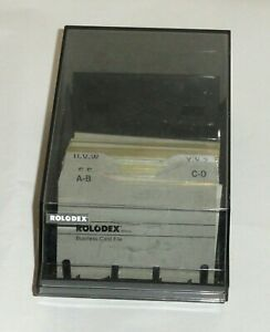Rolodex Business Card File Cbc 200 Black Index Tabs Vintage For Business Cards