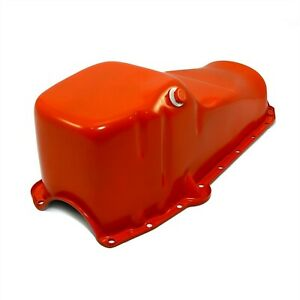 Orange Oil Pan Stock Capacity 58 79 Sbc Small Block Chevy 283 305 327 350 400
