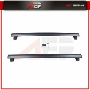 For 11 19 Jeep Grand Cherokee Black Front Rear Roof Top Rack Cross Bar Luggage