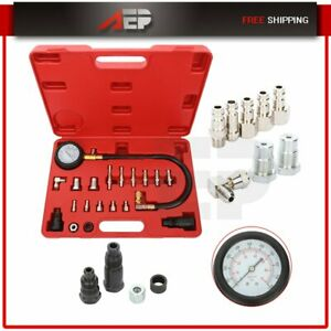 20pc Professional Diesel Engine Compression Tester Test Set Kit For Auto Tractor