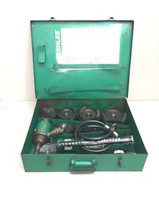 Greenlee 7310 4 Conduit Hydraulic Knockout Punch Set 767 Pump 746