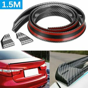 Universal Carbon Fiber Spoiler Wing Rear Sunroof Window Tail Lip Trim Sticker Af