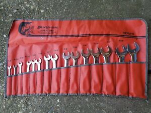 Snap On 15 Pc 12 Point Sae Short Combination Wrench Set 1 4 1 Oexs715