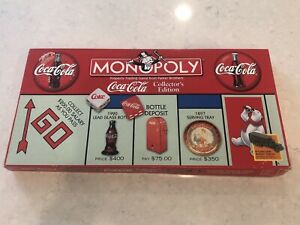Coca Cola Monopoly Board Game Collector's Edition Pewter Tokens 1999