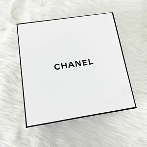 Chanel Authentic White Gift Box Set Tissue Paper Receipt Holder Packaging Set