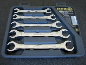 Craftsman Professional 5pc Metric Flare Nut Wrench Set 42013 Made In Usa