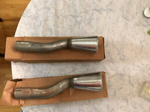 1965 66 Nos Mustang Gt Dual Exhaust Trumpets Tips Pair
