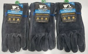 3 Pair wells Lamont Hydrahyde Water Resistant Leather Gloves Heavy Duty X large