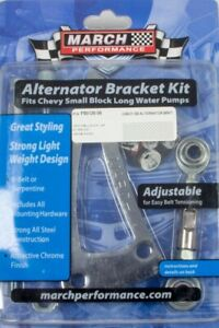 March Performance Alternator Bracket Sbc Lwp