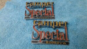 1973 87 Chevy Truck Parts Camper Special Emblems Badges Trim Vintage Original