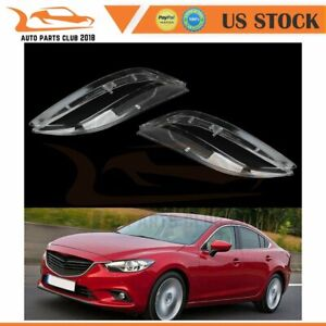 2pcs Clear Lens Headlight Headlamp Lense Cover For 2003 2008 Mazda 6