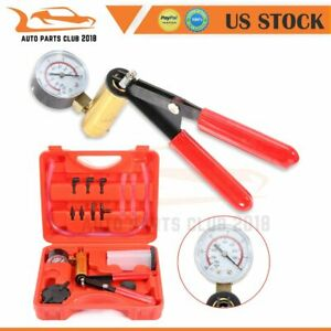 Hand Held Vacuum Pressure Pump Tester Set Brake Fluid Bleeder Bleeding Kit W box