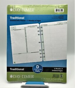 Day timer Traditional 2 month Undated Pages Daily Planner 8 1 2 x11