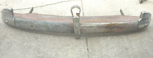 1941 Chevy Rear Bumper With Filler Panel Wing Tip Trunk Guards Brackets