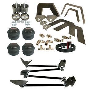 99 06 Silverado Front Rear Weld On Kit Notch Triangulate 4 Link Airmaxxx Air Bag