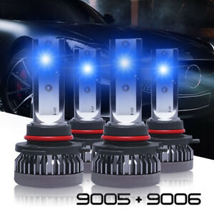 Combo 9005 9006 Led Headlight Bulbs Kit High low Beam 35w 8000k