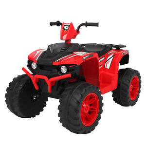 NEW Red 12V Kids Electric ATV Ride On Car Toy with 2 Speeds   LED Light   Music