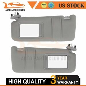 Fits 07 11 Toyota Camry Plush Cloth Sun Visors Pair W sunroof Left Right Side