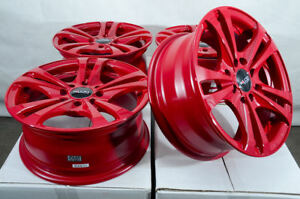 14 Wheels Honda Civic Accord Fit Nissan Altima Cube Sentra Versa Red Rims 4 Lug