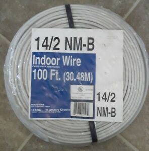 14 2 W ground Indoor Electrical Wire 100 Feet 14 Awg 15 Ampere Circuits