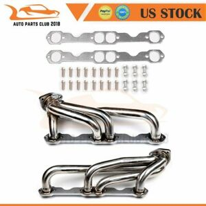 For Chevy Gmc 5 0l 5 7l 305 350 V8 1988 1997 Stainless Steel Truck Headers Ohv