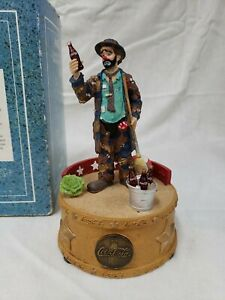 Coca Cola Emmett Kelly Musical Figurine Limited Edition
