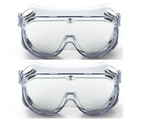 Safety Goggle Splash Shield Seal Protection Clear Hd Vented Anti fog Coated Lens