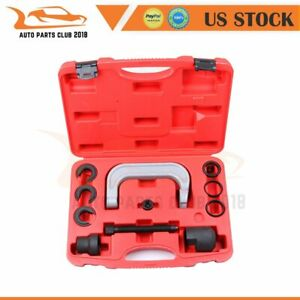 11 Pcs Upper Control Arm Press In Bushing Removal Tool Set For Ford Gm