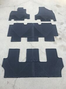 Weathertech All Weather Floor Mats For Honda Odyssey 2011 2017 1st 2nd 3rd Black