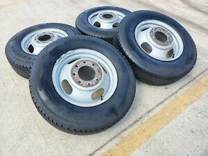 16 Chevy Silverado Gmc Sierra 3500 Dually Rims Wheels Oem 5125 2005 2006 2007