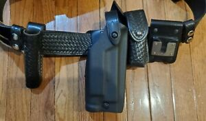 Tactical Police security Duty Belt Glock Safariland Holster With All Pouches