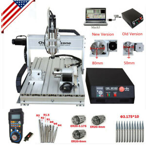 2 2kw 4 axis Cnc Router 6040 Mach3 Usb Engraving Cutting Drilling Diy Machine Us