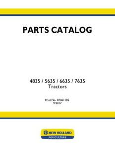New Holland 4835 5635 6635 7635 Tractor Parts Catalog