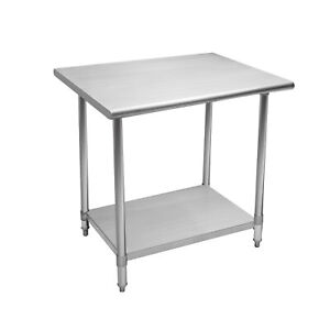 30 x60 Stainless Steel Commercial Kitchen Work Table With Undershelf