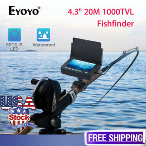 4.3 inch Monitor 20M Underwater Fishing Camera Video Fish Finder 1000 TVL IP68
