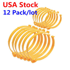 Usa 6pcs 4 3in And 6pcs 5 9in Vinyl Roll Clamp Clip Film Coil Hoop Storage Tool