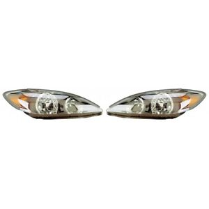 Fits 2002 2004 Toyota Camry Head Light Pair Side