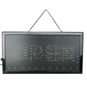 2 In 1 Ultra Bright Led Neon Light Display Business Open closed Sign Usa Stock