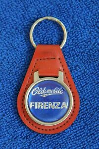 Vintage Leather Oldsmobile Firenza Key Fob Key Chain Key Ring Accessory Badge