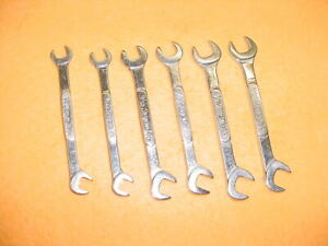 Snap On 6 Open End Offset Ignition Wrenches Very Good Condition