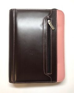 Franklin Covey Day One Faux Leather Zipper Planner Binder With Handle
