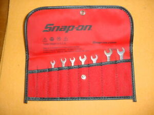 Snap On 7 Open End Offset Ignition Wrenches Very Good Condition